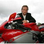 Carl Foggerty with MV motorbike